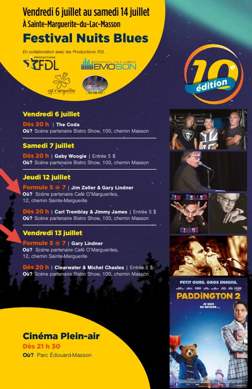 Festival Nuits Blues... @ Café O' Marguerites   Sainte-Marguerite-du-Lac-Masson   Québec   Canada