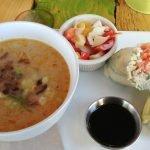 Soupe thai - rouleaux