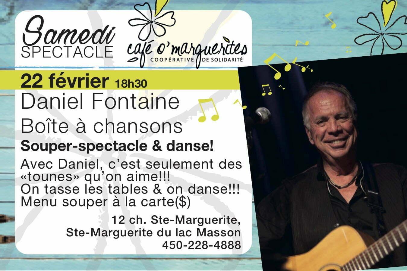 Daniel Fontaine - Souper, spectacle et danse!